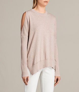 Womens Reya Sweater (Whisper Pink) - Image 3