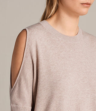 Womens Reya Sweater (Whisper Pink) - Image 4