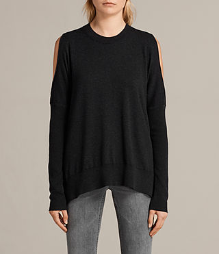 Women's Reya Jumper (Cinder Black Marl) -
