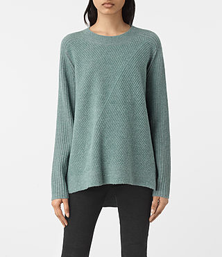 Womens Terra Crew Neck Sweater (ASH BLUE)