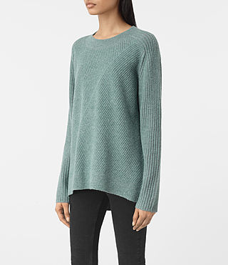 Donne Terra Crew Neck (ASH BLUE) - product_image_alt_text_3