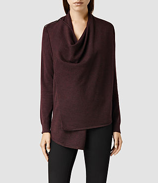 Womens Drina Cardigan (Bordeaux)