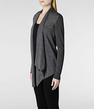 Womens Drina Cardigan (Charcoal) - product_image_alt_text_4