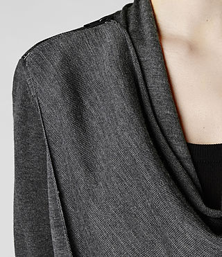 Womens Drina Cardigan (Charcoal) - product_image_alt_text_7