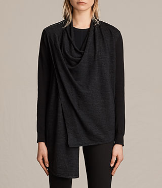 Mujer Drina Cardigan (Black) - product_image_alt_text_1
