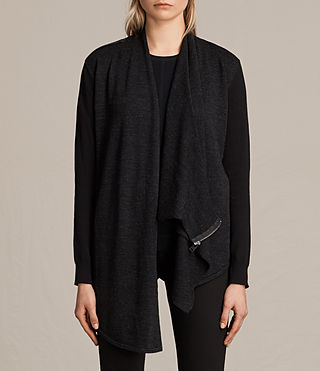 Womens Drina Cardigan (Black) - product_image_alt_text_3