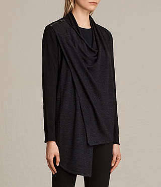 Womens Drina Cardigan (Black) - Image 5