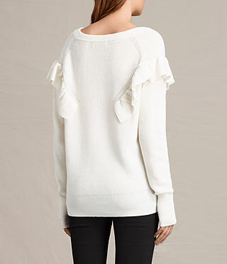 Womens Parnell V-Neck Sweater (Chalk White) - product_image_alt_text_4