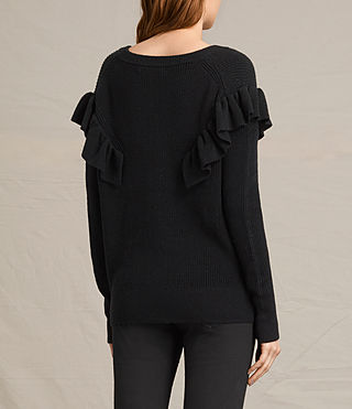 Womens Parnell V-Neck Sweater (Black) - product_image_alt_text_4