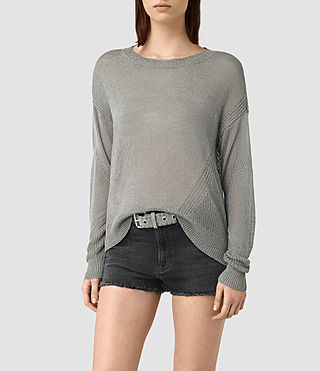 Womens Metal Sweater (Silver)