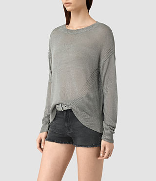 Damen Metal Jumper (Silver) - product_image_alt_text_2