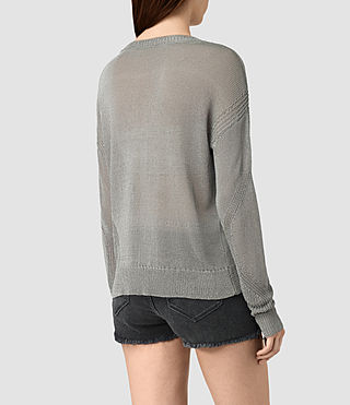 Damen Metal Jumper (Silver) - product_image_alt_text_3
