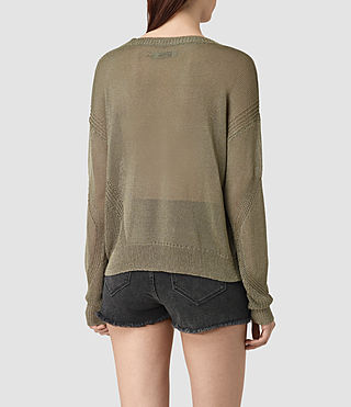 Women's Metal Jumper (Khaki Green) - product_image_alt_text_3