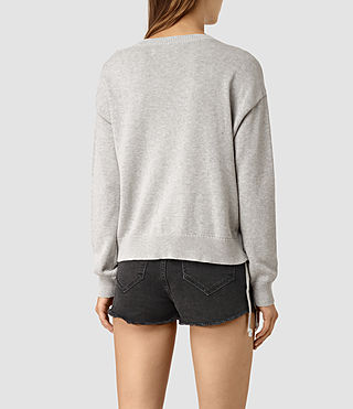 Womens Revo Lace Sweater (Light Grey) - product_image_alt_text_4