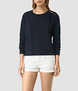 Womens Revo Lace Jumper (Ink Blue)