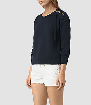 Women's Revo Lace Jumper (Ink Blue) - product_image_alt_text_3