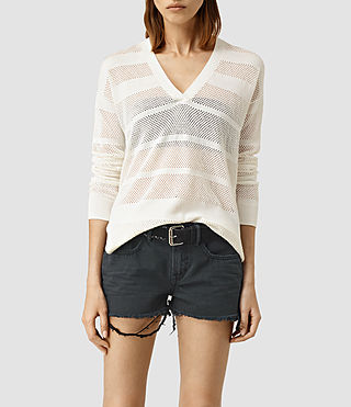 Womens Fix Mesh Jumper (Chalk White)