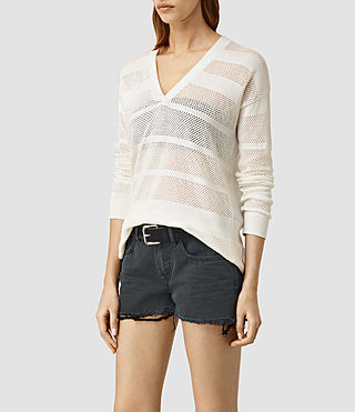 Mujer Fix Mesh Jumper (Chalk White) - product_image_alt_text_2