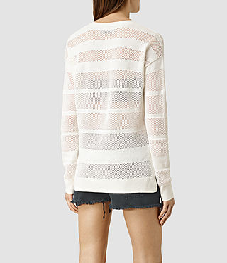 Mujer Fix Mesh Jumper (Chalk White) - product_image_alt_text_3
