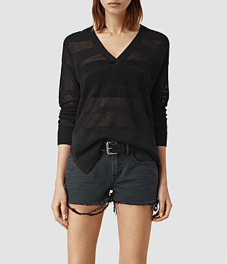 Femmes Fix Mesh Jumper (Black)
