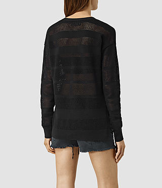 Mujer Fix Mesh Jumper (Black) - product_image_alt_text_3
