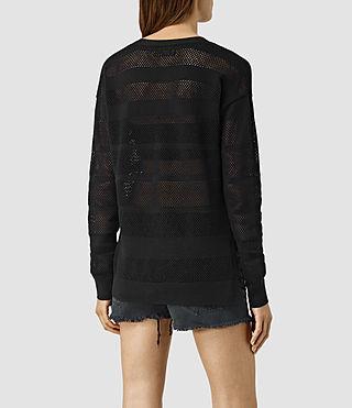 Womens Fix Mesh Jumper (Black) - product_image_alt_text_3