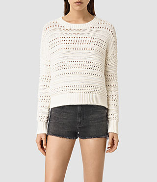 Womens River Sweater (Chalk White)