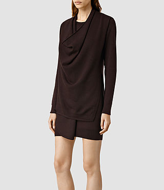 Womens Drina Sweater Dress (Bordeaux) - product_image_alt_text_2