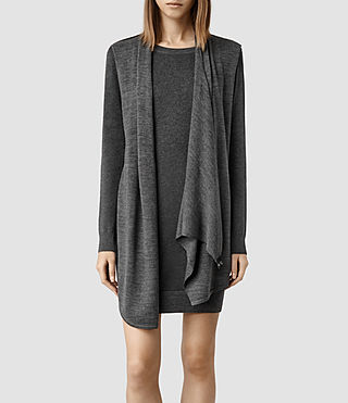 Womens Drina Sweater Dress (Charcoal) - product_image_alt_text_1