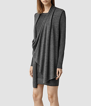Womens Drina Sweater Dress (Charcoal) - product_image_alt_text_2
