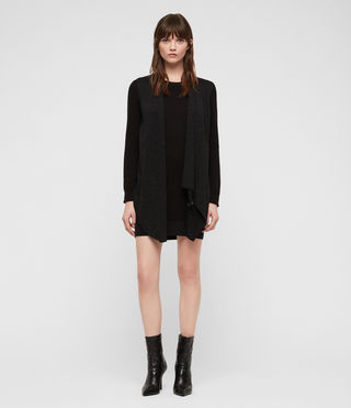 Womens Drina Sweater Dress (Black) - product_image_alt_text_1