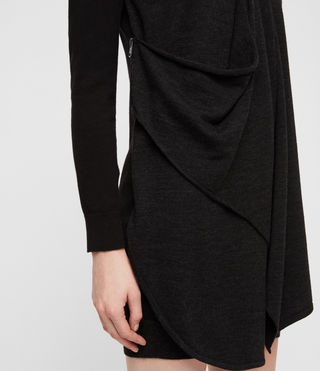 Mujer Drina Sweater Dress (Black) - product_image_alt_text_2