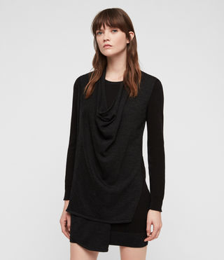 Womens Drina Sweater Dress (Black) - product_image_alt_text_4
