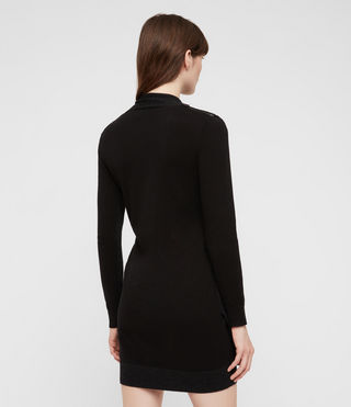 Women's Drina Dress (Black) - product_image_alt_text_5