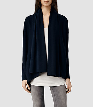 Womens Awry Cardigan (Midnight)