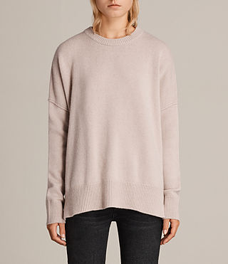 Womens Dasha Cashmere Crew Sweater (Whisper Pink) - Image 1