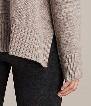 Womens Dasha Crew Sweater (OATMEAL BROWN) - Image 2