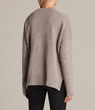 Womens Dasha Crew Sweater (OATMEAL BROWN) - Image 4