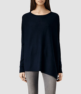 Womens Awry Sweater (Midnight)