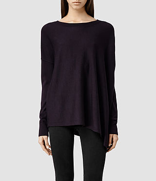 Womens Awry Sweater (LIQUORICE)