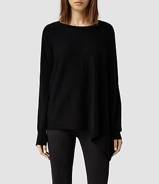 Womens Awry Sweater (Black)