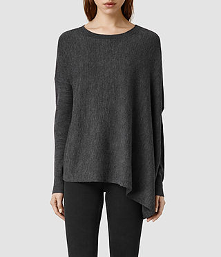Womens Awry Jumper (Charcoal Marl)