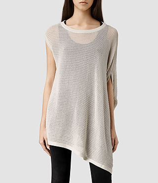 Womens Aster Knit Tee (Porcelain)