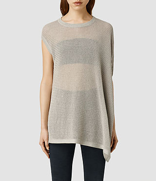 Womens Aster Knit Tee (Sable Marl)
