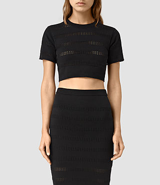 Womens Casto Cropped Top (Black)