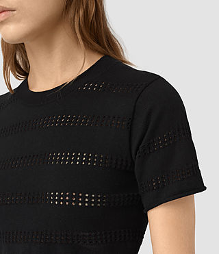 Womens Casto Cropped Top (Black) - product_image_alt_text_2