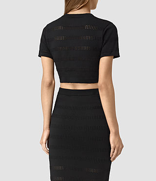 Mujer Casto Cropped Top (Black) - product_image_alt_text_4
