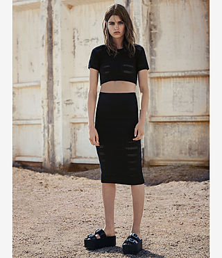 Womens Casto Cropped Top (Black) - product_image_alt_text_5