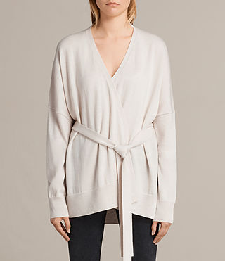 Damen Inaya Merino Cardigan (PORCELAIN WHITE) - product_image_alt_text_2