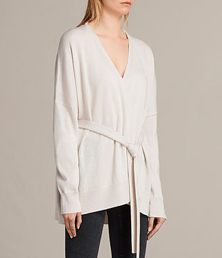 Damen Inaya Merino Cardigan (PORCELAIN WHITE) - product_image_alt_text_4